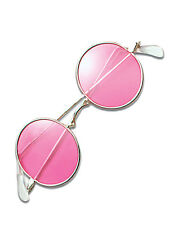 Pink Hippy Hippie 60s 70s John Lennon Round Ozzy Granny Fancy Dress Glasses New
