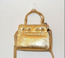 NWT JUICY COUTURE COUTURE CLASH LEATHER MINI MINI DAYDREAMER, GOLD
