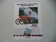 advertising Pubblicità 1980 MOTO FANTIC TRIAL 50/125/200 PROFESSIONAL