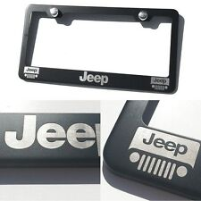 laser engraved for Jeep Black matte coated License Plate Frame mirror letter