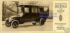 Motorwagenfabrik Berna Olten Schweiz Reklame 1919 Bus Omnibus Werbung Traktor ad