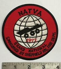 NATVA GRAND NATIONAL CLOTH PATCH-1977 SHEFFIELD OH  ATTEX,HUSTLER,MAX,SCRAMBLER