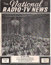 NATIONAL RADIO-TV NEWS February-March 1955 technical newsletter
