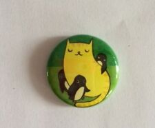 CAT PENGUIN BUTTON PIN HELPS FEED TNR BUY HOUSES FOR FERAL CAT RESCUE