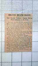 1915 Lady Dorothie Feilding Braves Death Daily Driving Motor Ambulance