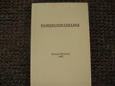 Washington College Alumni Directory 1987 Chestertown, Maryland
