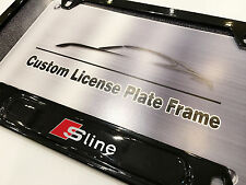 Satin Black License Plate Frame for Audi S-LINE