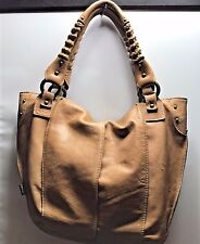Tano Tan Soft Leather  Medium Tote  Studded Bag Purse GUC
