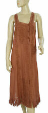 138910 New Intimately Free People Lace Fringes Brown Sleeveless Dress Small S
