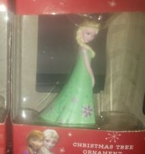 NEW HALLMARK CHRISTMAS TREE ORNAMENT DISNEY FROZEN ELSA IN GREEN DRESS