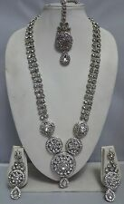 Indian Bollywood Bridal Jewellery Necklace Set With Earrings And Head Piece