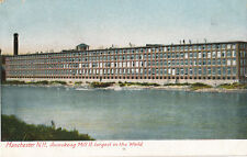 1907 Amoskeag Mill 11, Manchester NH, Largest in World Tinted Postcard