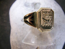 Patriótica-West-wall-ring - auténtico – Email - 585er-amarillo-oro - 1939-1960