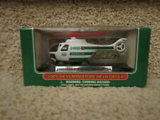 HESS Gasoline 2005 Miniature Helicopter Green White Red propeller Collectible
