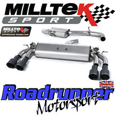 "Milltek Audi S3 8v 3-Door Exhaust 3"" Cat Back Resonated Black GT100 SSXAU397 EC"