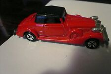 1978 Tomy Tomica F52 PACKARD COUPE ROADSTER red w/white interior diecast clean