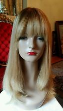 PRE ORDER 100% HUMAN HAIR  ROOTED BLONDE  HIGHLIGHTS TOPPER SILK TOP HAND TIED