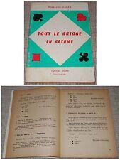 Madeleine Calas TOUT LE BRIDGE EN RESUME 1960 Kartenspiel Bridge / Französisch