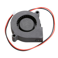1Pc Brushless DC Cooling Blower Fan 12V 0.14A 50mm x 15mm 2 Pin Connector Black