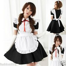 Lovely Halloween Costume  French Maid Fancy dress outfit +headband  fit size