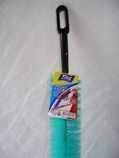 "NEW LONG RADIATOR CLEANING BRISTLE BRUSH 70cm / 27"" TURQUOISE / BLUE GREEN"