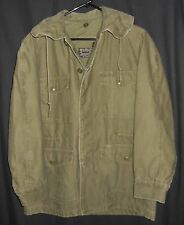 Vtg 1961 USAF Parka Sateen Green US Air Force John Ownbey Vietnam Small
