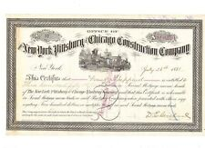 New York Pittsburg Chicago Construction Company 1881
