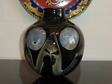 Dick Huss Gorgeous Authentic Signed Contemporary Art Glass Vase 1973