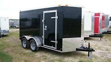6X12 Enclosed Trailer Cargo Tandem V Nose 14 Utility Motorcycle 7 Lawn 2016