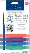 Faber-Castell Mix & Match METALLIC GELATOS COLORS & CLEAR STAMPS Creamy AcidFree