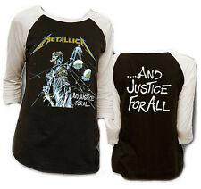 New Metallica and Justice For All Album Raglan Shirt (M) badhabitmerch