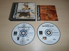 Vagrant Story Complete Playstation 1 PS1 Game CIB Black Label w/ Demo