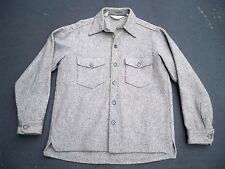 Vtg Woolrich Herringbone WOOL Hunting Cabin Work Shirt Coat Jacket Men's Size LG
