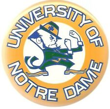 UNIVERSITY NOTRE DAME GIANT 6 INCH COLLEGE SPORTS PIN BUTTON