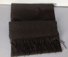 Ralph Lauren Purple Label Cashmere Scarf Muffler Dark Green 72 x 12 Fringed New