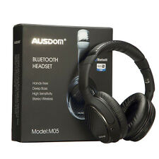 Ausdom M05 Bluetooth Stereo Headset Wireless +Wired Deep Bass Headphone Ear