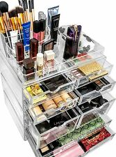 Stackable Acrylic Makeup Organizer. Jewelry Storage Case & Display Set.[X-Large]