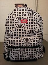 dickies school backpack black and white optical