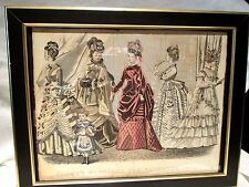 ANTIQUE 1874 GODEY'S FASHION PRINT FOR NOVEMBER