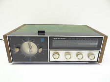 Vintage Used Modern Realistic Hi-Fi Dual Speakers Clock Radio Telechron 12-1479