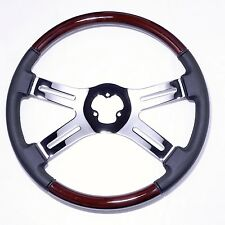 "4 Spoke 18"" Combo Classic Steering Wheel 3-Hole for Freightliner, Peterbilt, KW+"