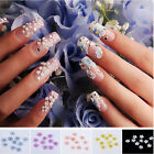 20 x 3D Flower Manicure Glitters Stickers Beads Nail Art Tips DIY Decorations