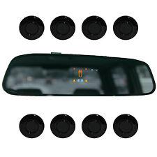 """Park assist """"Parking mondo"""" sensori 8x 21mm NERO segnalatore di retromarcia PDC m15"""