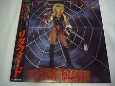 LITA FORD-Out For Blood JAPAN 1st.Press w/OBI Black Sabbath Metallica AC/DC