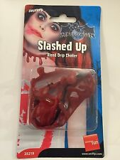 Fake Slashed Bloody Neck Scar Latex Choker Prosthetic Wound Cut Head Halloween