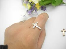 10pcs 20x13mm Rose Gold Plated Rhinestone Sideways Cross Connector For Rings