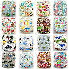 Printed Cloth Nappy Shine Baby Reusable Cloth Nappies Diaper Covers Liner Insert