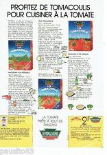 PUBLICITE ADVERTISING 116  1988   Panzani   purée de tomates Tomacoulis