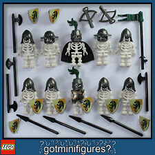 LEGO® SKELETON CASTLE MEN minifigures weapons guys NEW Helmet Cape people lot 10