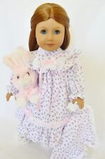 "Doll Clothes AG 18"" Nightgown Pink Floral Blanket Made To Fit American Girl Doll"